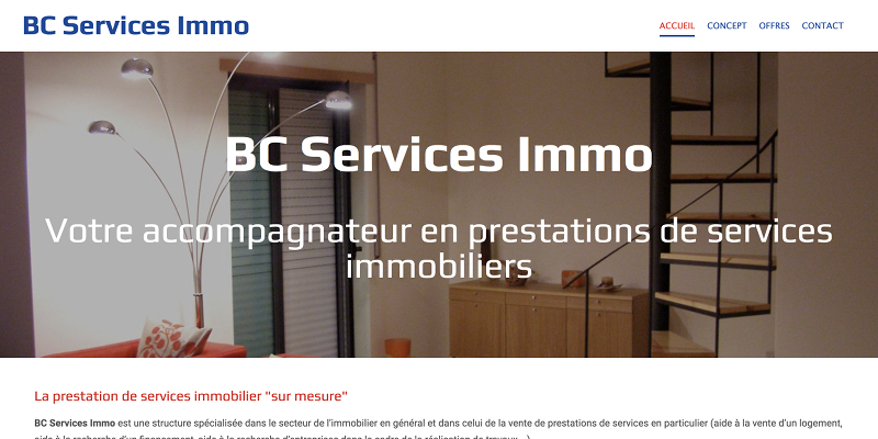 site web services immo